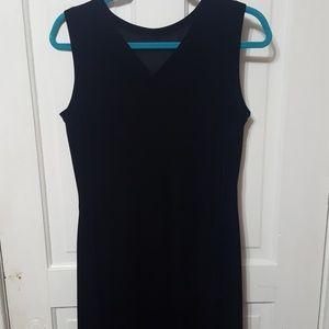 Maxi Black Velvet Dress